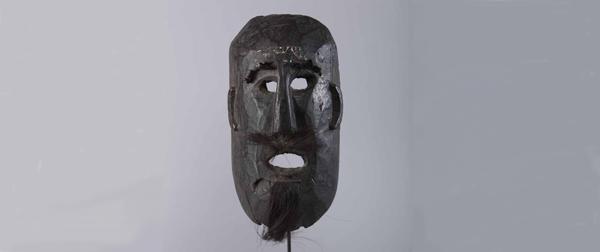 Masque- Humla barbichette-(Asie--Nepal)
