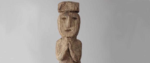 Statue de protection debout chapeau (Asie Nepal)sie-Nepal)